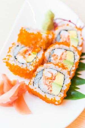 california roll: California roll sushi maki - japanese food Stock Photo