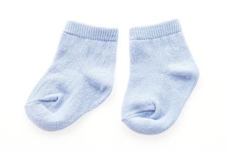 Chaussettes de bébé, isolé, blanc
