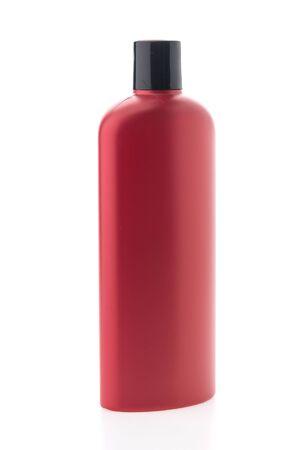 shampoo bottles: Blank shampoo bottles isolated on white