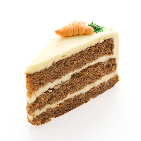 carrot cakes: Carrot cakes isolated on white