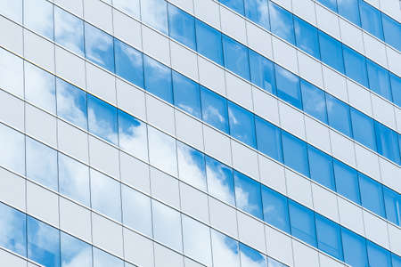 mirrored: Building Reflection glass with sky