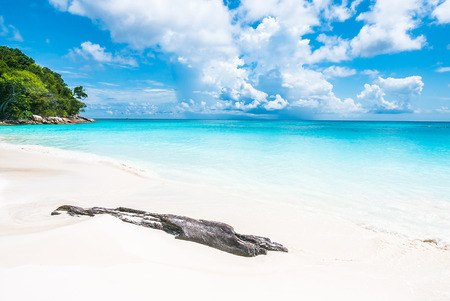 beach landscape: Beautiful island and sea   with tropical beach landscape - summer vacation Stock Photo
