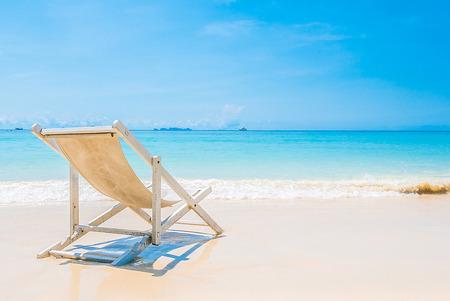 sands: Beach chair on tropical beach sand