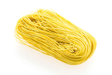 chinese noodles: Dry chinese noodles isolated on white background