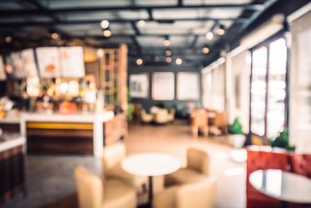 Blur coffeeshop achtergrond - vintage filter effect