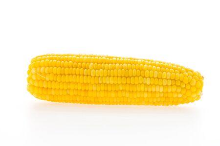espiga de trigo: Ma�z aisladas sobre fondo blanco