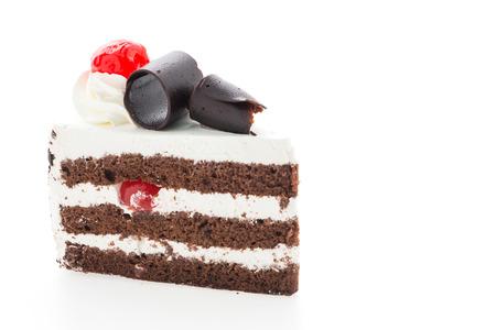 Black forest cakes isolated on white background photo