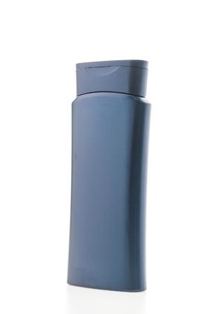 shampoo bottles: Blank plastic shampoo bottles isolated on white background