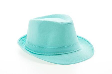 female leprechaun: Colorful fashion straw hat isolated on white background