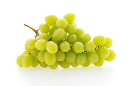 Grüne Traubenfrucht isoliert auf weißem Hintergrund Lizenzfreie Bilder