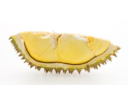 Durian: Sầu riêng trái cây bị cô lập trên nền trắng