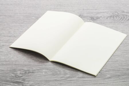 blank note book: Blank Note book mockup on wood background