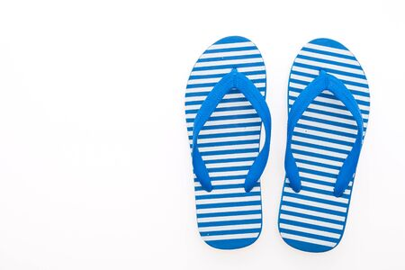 flip flops on the beach: Flip flop isolated on white background