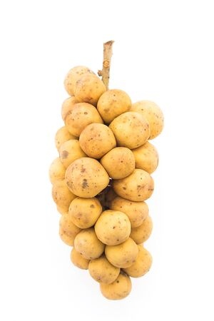 lanzones: Longkong , langsat , Lanzones fruit isolated on white background Stock Photo