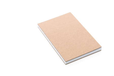 blank note book: Blank note book paper isolated on white background