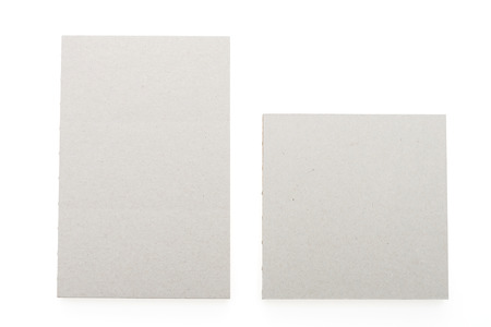 note books: Gray note books isolated on white background Stock Photo