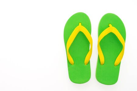 to flop: Flip flop isolated on white background