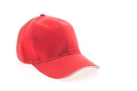 baseball caps: Red baseball cap isolated on white background Stock Photo