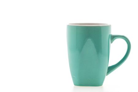 白い背景で隔離のコーヒー カップ