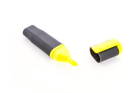 highlighter: highlighter pen isolated on white background