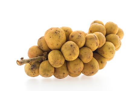 lanzones: Longkong langsat Lanzones fruit isolated on white background