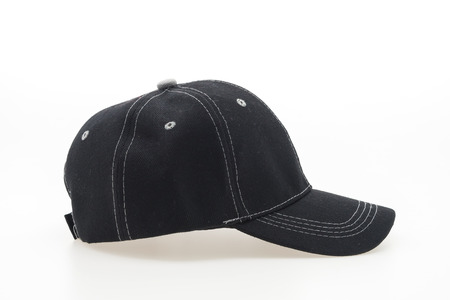 black hat: Baseball cap isolated on white background
