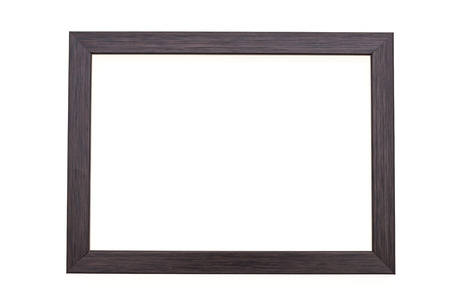 Wood photo frame isolated on white background 스톡 콘텐츠