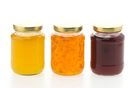 jar: Jam jar isolated on white background