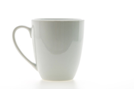 Empty coffee cup or coffee mug isolated on white