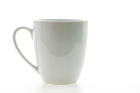 Leere Kaffeetasse oder Kaffeetasse isoliert auf weiß Lizenzfreie Bilder - 42625210