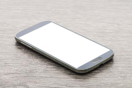 Moblie Smartphone auf Holz