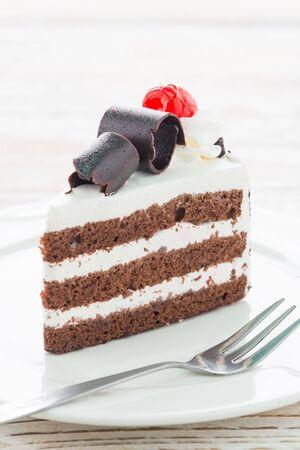 Schwarzwald Kuchen Standard-Bild