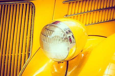 headlight: Headlight lamp  vintage car - vintage filter effect