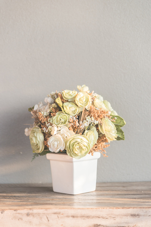 ��copy space �: Vase flower with copy space - vintage filter
