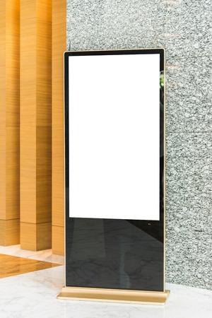 'advertising space': Blank advertising sign