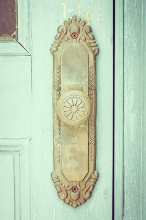 Vintage deurknop - vintage filter Stockfoto