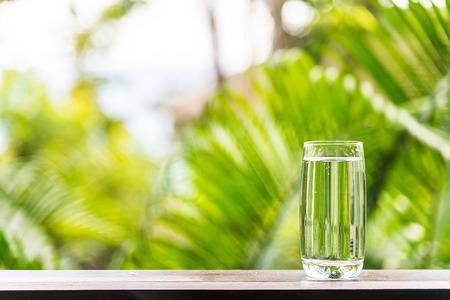 Water glas outdoor Stockfoto