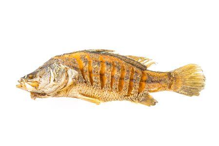 fish isolated: Fried fish isolated on white background