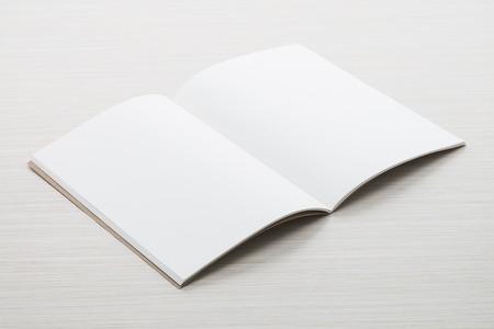 mock: Blank paper mock up on wood background