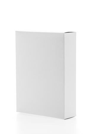 White box isolated on white background Stock Photo