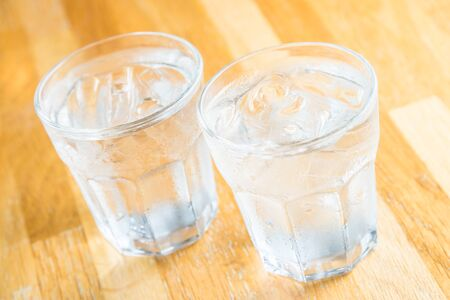 glass of water: Glass water