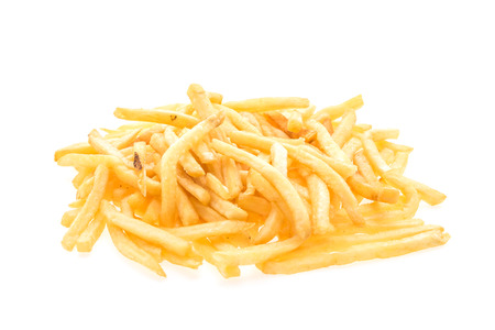 fry: French fries isolated on white background Stock Photo