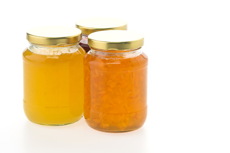 jam jar: Jam jar isolated on white