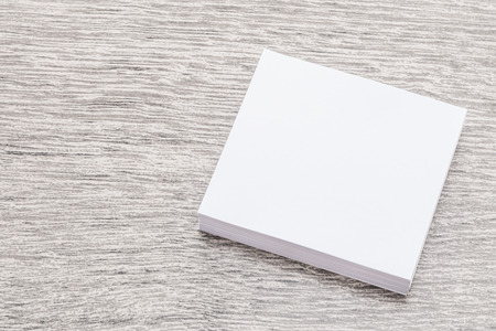 paper sheets: White paper mock up on wood background