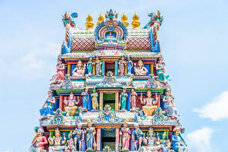 hindu temple: Indian hindu temple in singapore