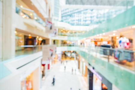 retail shopping: Abstract blur shopping mall background