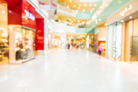 抽象的なぼかしショッピング モール