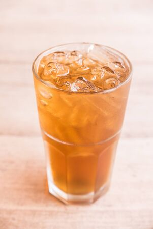 冰柠檬茶玻璃 - 选择聚焦点