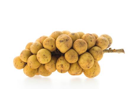 lanzones: Longkong , langsat , Lanzones fruit isolated on white