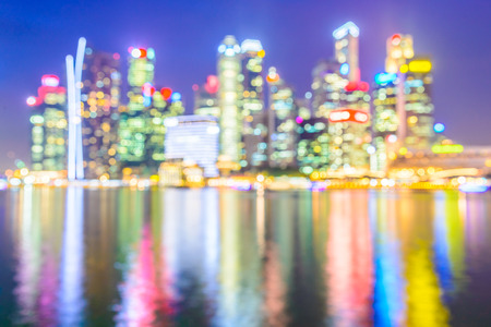 crowded space: Abstract blur singapore city background